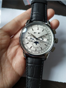 Haute qualité supérieure Vente Montre Homme mouvement automatique montre-bracelet en acier inoxydable leathe verre transparent 012-2
