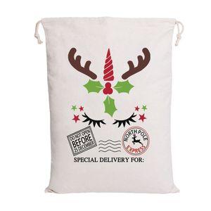 Recenti Babbo Natale Borse di Santa Sack sacchetta 6 Canvas Styles Candy Borse per bambini regali