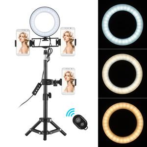 6in Dim Masaüstü Selfie'nin LED Halka Işık Lambası withTripod Kamera ringlight İçin YouTube Video Canlı Fotoğraf Fotoğraf Stüdyosu Makyaj Standı