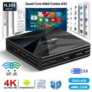 CC1 super Android 9.0 Smart TV BOX RK3318 2.4 + WiFi 5G BT4.0 Set Top Box 4 Go 32 Go 64 Go max VS H96