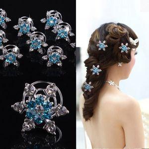 Joyería nupcial tocado de las mujeres de pelo pinzas de pelo del copo de nieve Diamond Girl Accesorios para el cabello horquilla para LJJA3618-13 favor del partido de Cosplay