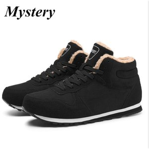 Classic Fashion Men Winter Shoes Solid Color Snow Boots Plush Inside Antiskid Bottom Keep Warm Waterproof Ski Boots 36-47