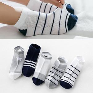 10pcs / 5pairs Children Skowable Sports Girls Sokcs Unisex Cotton Strippe Chaussette Enfant Garcon Skarpetki Dla dzieci