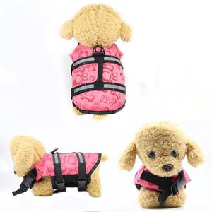 Nueva mascota exterior chaleco salvavidas para perros Chaleco cómodo traje de baño Ropa chaleco salvavidas para perros Ropa de seguridad Suministros para mascotas Tamaño S-XL envío gratis