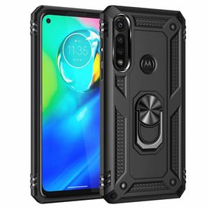 Caso protetor de anel à prova de choque para Motorola G9 G8 Play Plus Lite E7 E6S E 2020 Caixa de telefone de armadura para G 5G mais Stylus Rápido Power One Fusion