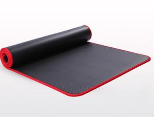 10 MM Extra dicke Qualitäts-Yoga-Matten für Fitness Umwelt Tasteless Pilates Gym Übung Pads mit Bandage