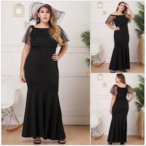 Color Dresses Half Sleeve Casual Dresses Womens Clothes Plus Size Sequins Panelled Dresses Fashion Slash Neck Solid