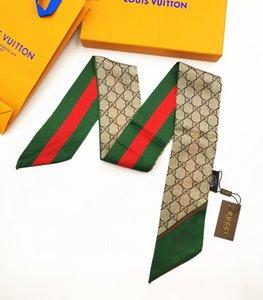 2020 donne del nastro di modo sciarpa di seta bel mix di design ragazze fazzoletto da collo della maniglia bag fascia per capelli avvolge piccole sciarpe 120 * 8cm