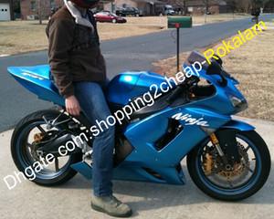 Para Kawasaki Ninja ZX6R 636 05 06 ZX6R 636 ZX636 2005 2006 ABS motocicleta Kit de carenados Azul (moldeo por inyección)