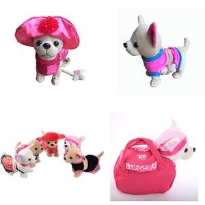 Der Chi Chi amor Zipper Electronic Dog Pet Cantando Andar presentes Musical Plush Pet Dog Robot brinquedos para crianças de Natal