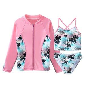 2018 2019 nuovi i migliori Kid ragazze costume da bagno rosa Swimwear Nuotatori Bagno Suit Frangente Mare