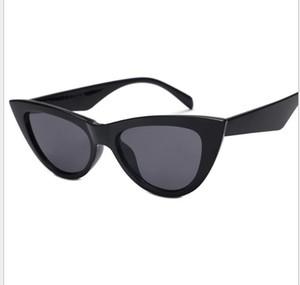 Triangular reflexivo côncavo em forma de óculos de sol pequeno quadro ins retro Street Sunglasses