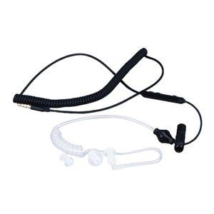 Anti-Radiation Spiralluftschlauch-Kopfhörer-Kopfhörer-Weiß / Schwarz