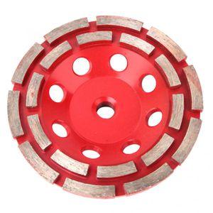 """1 * Segmento de Diamante Moagem Disco 4"""" Segmento Duplo Row Diamante Grinding Cup Disc Wheel para concreto Granito, Mármore"""