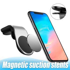 Voiture magnétique Support Vent portable avec Grip Portable gratuitement mains Support pour iPhone 11 Pro Max XS XR Samsung S20 Note 10 Avec Emballage Boîte