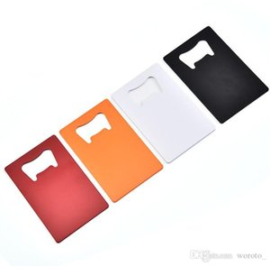 Wallet Size Stainless Steel Opener 4 Colors Credit Card Beer Bottle Opener Business Card Bottle Openers