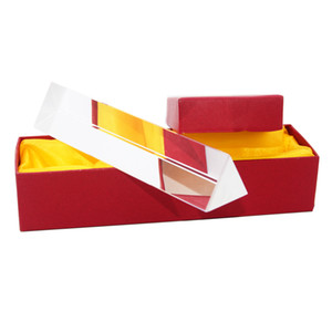 Rainbow Optical Glass Reflecting Triangular Prism Physics Teaching Light Spectrum color Triple Prism with Gift Box