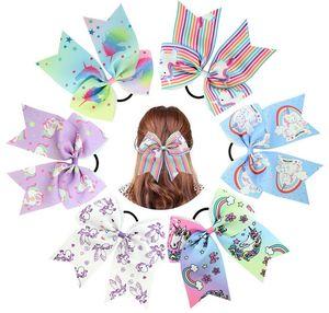 12 cores Corda Moda Bebê estrela bowknot do coração do unicórnio impressão hairbands meninas arco de cabelo acessórios dos desenhos animados crianças Arcos Headbands 834