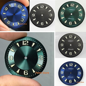 Cadran bleu cadran lumineux en forme de Corgeut 33.5mm ETA 2836 2824, 2813 3804 Mingzhu, Miyota 8205 8215 821A mouvement série 82