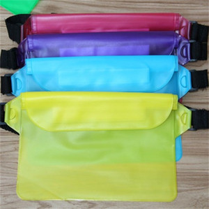 PVC Waterproof Waistpack Transparent Multi Colors Dustproof Mobile Phone Storage Bags Rafting Waist Bag Pouch Case For Men Women 2 8mk E19