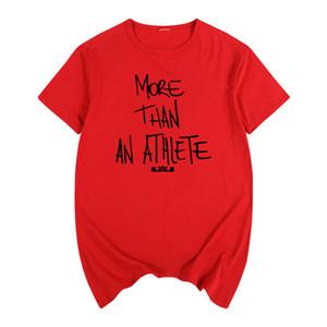 Fashion-Lebron James Футболка Same Style Brand More Than T-Shirt из хлопка с коротким рукавом и футболкой с принтом