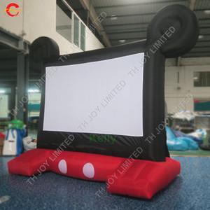 الكرتون على شكل نفخ فيلم الشاشة للبيع رخيصة أكسفورد النسيج نفخ شاشة الإسقاط للدعاية في الهواء الطلق