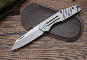 tubarão-baleia Mini D2 Titanium Handle bolso rolamento de esferas Chaveiro Pocket Knife faca chaveiro faca dobrável presente Adker para o homem