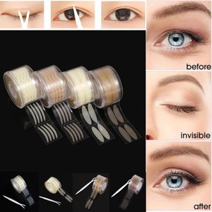 Tape pálpebra Etiqueta Invisible dobra dupla pálpebra Cole Stripe 4colors auto-adesivas olho natural Tools Tape Maquiagem
