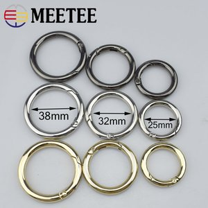 Meetee new 25/32/38mm de metal primavera o anel openable chaveiro bag belt strap fivelas de corrente snap fecho artesanato de couro