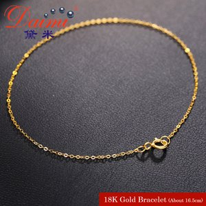 DAIMI Pure Gold Bracelet Chain 18K Yellow Gold Chain Light Chain Gold Bracelet C18112301