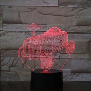 لعبة السيارات 3D LED البصرية مصباح الوهم ضوء الاكريليك ضوء لوحة هدية الديكور البطارية بن DC 5V USB مدعوم مصنع بالجملة