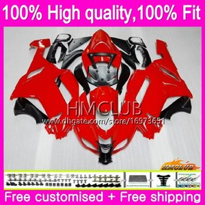 Injection OEM For KAWASAKI ZX 6R ZX 6 R 600CC ZX-636 ZX636 07 08 55HM.12 ZX600 ZX6R 07 08 ZX 636 600 CC ZX-6R 2007 2008 Gloss red Fairing