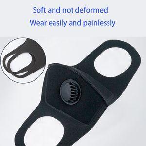 respirador máscara preta Coslony Unisex Sponge PM2.5 poluição Meia Face Boca com respiração alças largas lavável reutilizável Muffle respirável seda
