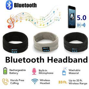 Беспроводные наушники Bluetooth Спорт Оголовье наушников Hi-Fi стерео гарнитура Sleep Eye Mask игрока с микрофоном Наушники