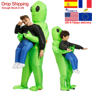 ET-Alien Inflatable Monster Costume Scary Green Alien Cosplay Costume For Adult Inlatable Costume Party Festival Stage Wholesale