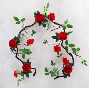 Artificiale Peony della vite del fiore per la cerimonia nuziale di nuovo stile 1.8m decorazioni artificiali fiori di peonia schiuma vite schiuma peonia rattan