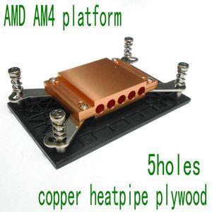 5holes AMD AM4 plataforma Copper heatpipe madera contrachapada bloque de cobre fullerboard PARA heatpipe de 6 mm de diámetro