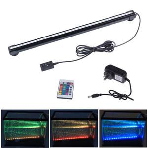 6W 18LED 46CM RGB LED de couleur Fish Tank Aquarium usine éclairage sous-marin Bubble Lampe avec télécommande
