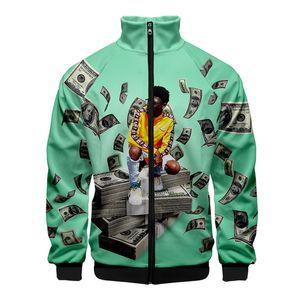 Mens Stand Collar Jacket Designer Lil Nas Zipper Long Sleeve Loose Casual Coat Spring Autumn Jacket