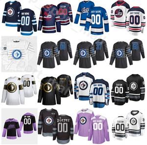 2020 Winnipeg Jets Hockey 85 Mathieu Perurleult Jersey 17 Adam Lowry 5 Luca Sbisa 57 Gabriel Bourque Navy الأزرق الأبيض الأرجواني مخصص