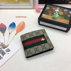 Classic style fashion real leather men wallet card holders more letter credit card bus card wallets for women with box 408827