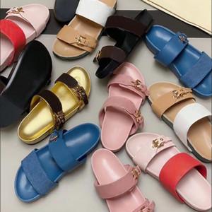 Moda Kadınlar Slaytlar Sandal Bom Dia Düz Katır Terlik Patent Tuval Erkekler Kadınlar Plajı Slaytlar Kauçuk Taban Yaz Ayaklı kutusu EU35-46 Flop