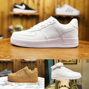 Zapatos de ventas 2020 Fuerzas nuevos hombres del diseño del monopatín baratos de baja Uno unisex 1 Euro Knit de aire de alta Mujeres de Blanco Rojo Negro zapatos ocasionales del cuero