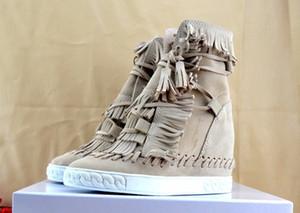 Designer-e-Keil-Aufladungen Höhe zunehmende Ankle Booties Quasten Stiefel Frauen-Qualität