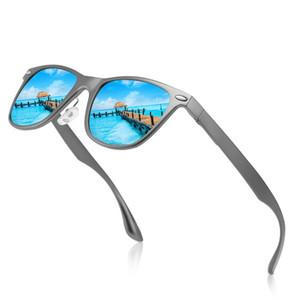 New Men's Polarized Sunglasses All Aluminum Magnesium Alloy Spring Leg Square Colorful Sunglasses1373