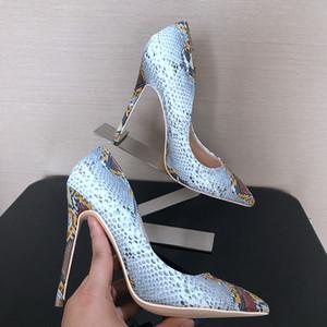 trasporto del più nuovo in pelle di pitone Womens pompe abito da sposa scarpe tacco alto scarpe a spillo delle donne della signora Chaussure estate Pump