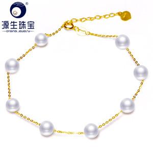 Gioielli Ys Real 18k oro 5-6mm bianco cinese perla d'acqua dolce gioielli J190722