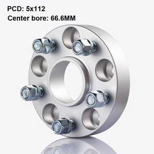 2pcs 25mm Thick PCD 5x112 CB 66.6mm Aluminum alloy wheel Flange Spacers Adapters