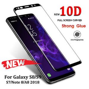 10D de vidrio templado curvado completo para Samsung Galaxy S8 S9 Plus Note 8 9 Protector de pantalla para Samsung 2018 película protectora