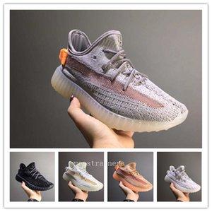 Scarpe da ginnastica della ragazza del ragazzo dei bambini del bambino Sneaker Size 26-35 2020 Designer Kanye West 3M Reflective Infant Yecheil bambini che corrono